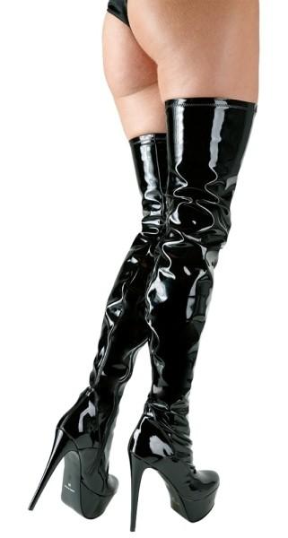 Overknee-Stiefel aus Lack