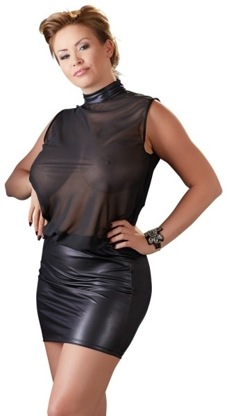 Kleid transparent schwarz 2XL