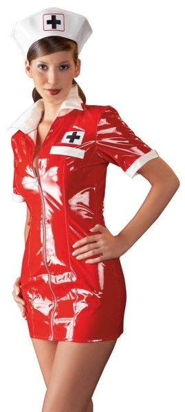 Lack Krankenschwester rot M