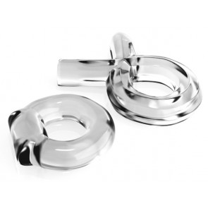 C Couples Cock Ring Set Clear