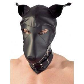 Lederimitat Dog Mask S-L